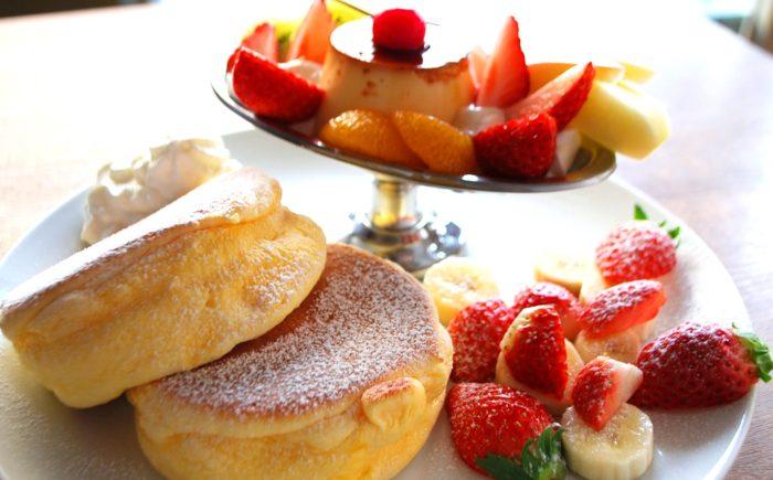 プリンアラモードパンケーキ